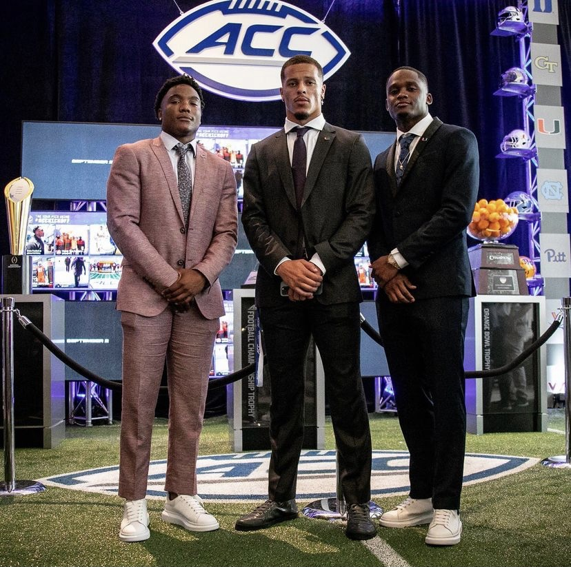 Quarterback D'Eriq King, safety Bubba Bolden and receiver Mike Harley Jr. attended the Atlantic Coast Conference Kickoff on July 21-22 in Charlotte, North Carolina.