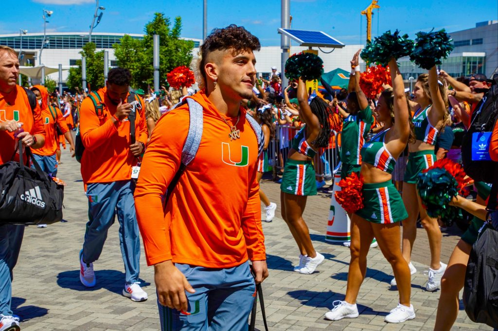 Freshman wide receiver Xavier Restrepo is listed behind senior receiver Mike Harley on the Week 1 depth chart. Restrepo saw action in nine games last season, primarily as a punt returner.