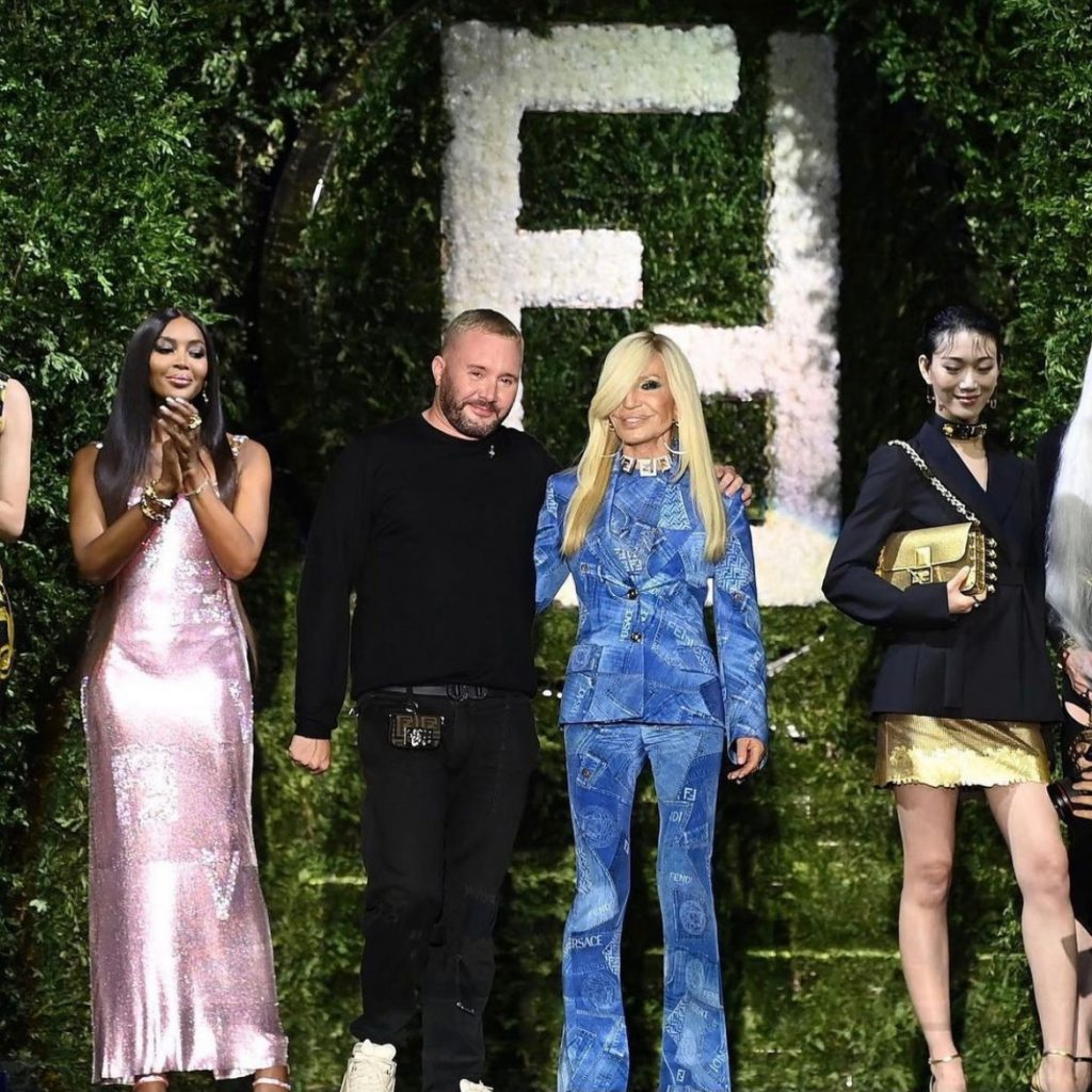 Kim Jones and Donatella Versace close out the launch of the Fendi x Versace collaboration project