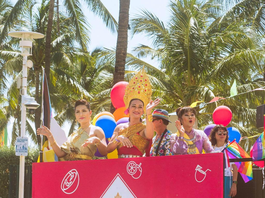 Floats on Ocean Drive celebrate Miami Beach Pride on Sept. 19
