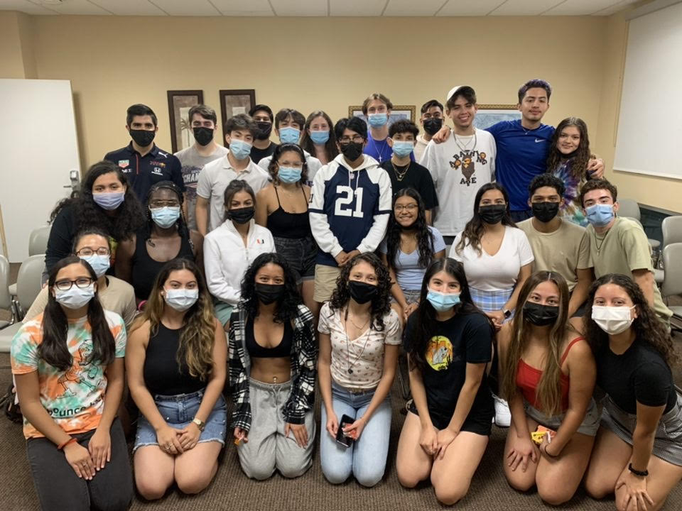 """UM&squot;s Mexican students organization """"Mexicanes"""" gather together at their first general body meeting of the year on Sept. 27. Mexicanes reunited during this year&squot;s Hispanic Heritage Month and hosted numerous events to celebrate their culture."""